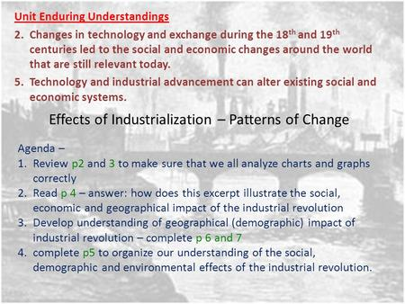 the impact of industrialisation and technology