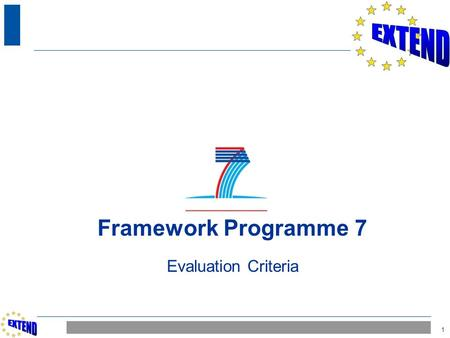 1 Framework Programme 7 Evaluation Criteria. 2 Proposal Eligibility Evaluation by Experts Commission ranking Ethical Review (if needed) Commission rejection.