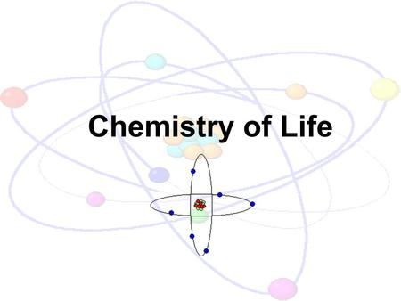 Chemistry of Life. Objectives Define the terms atom, element, molecule, and compound. Describe the structure of an atom. Compare and contrast ionic and.