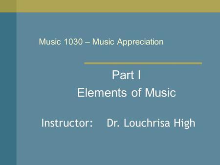 Music Appreciation Exam 4