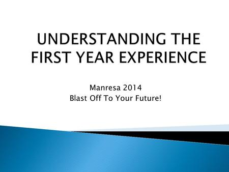 Manresa 2014 Blast Off To Your Future!.  Millennial Generation ◦ Age: 18-33 (1980s-early 2000s) ◦ Relatively unattached to politics and religion ◦ Linked.