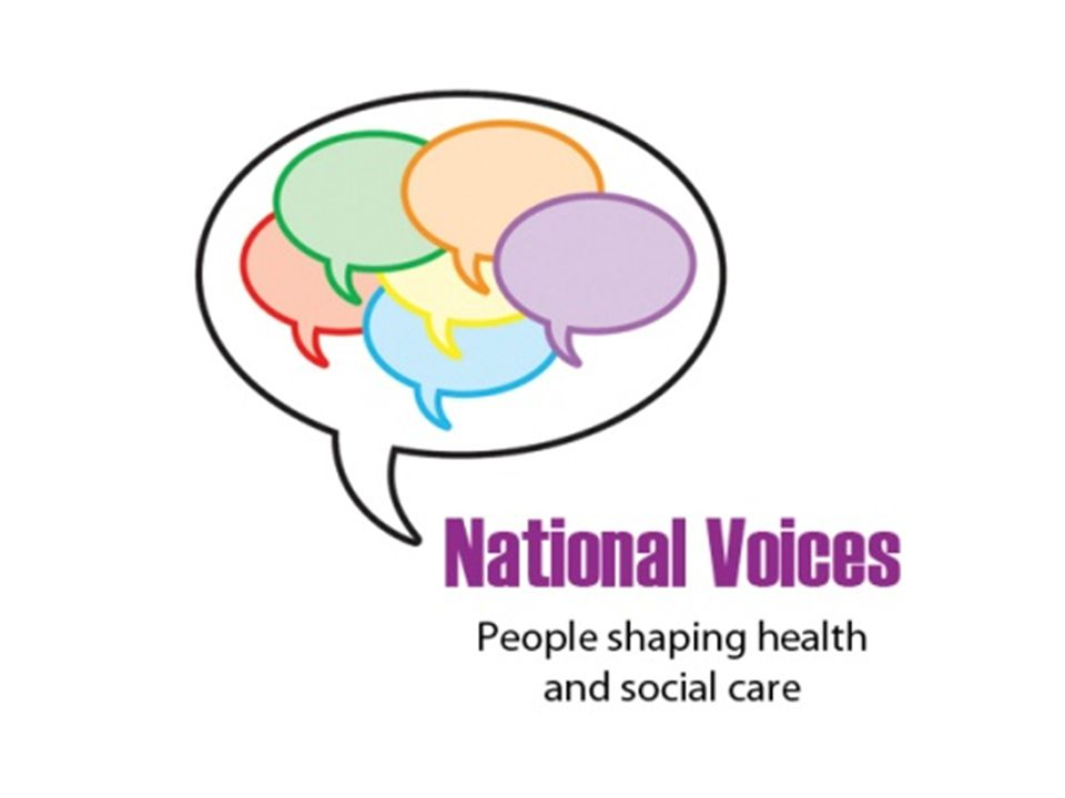 National Voices is: the leading coalition of health and social care charities Health Service Journal Our mission: – Promoting person-centred health and care – Being a valued membership organisation 160 organisations as members Founded in 2008