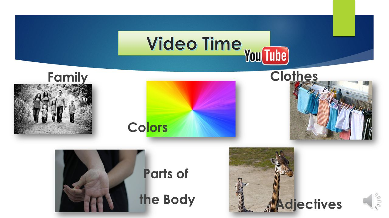 Family Colors Clothes Adjectives Parts of the Body