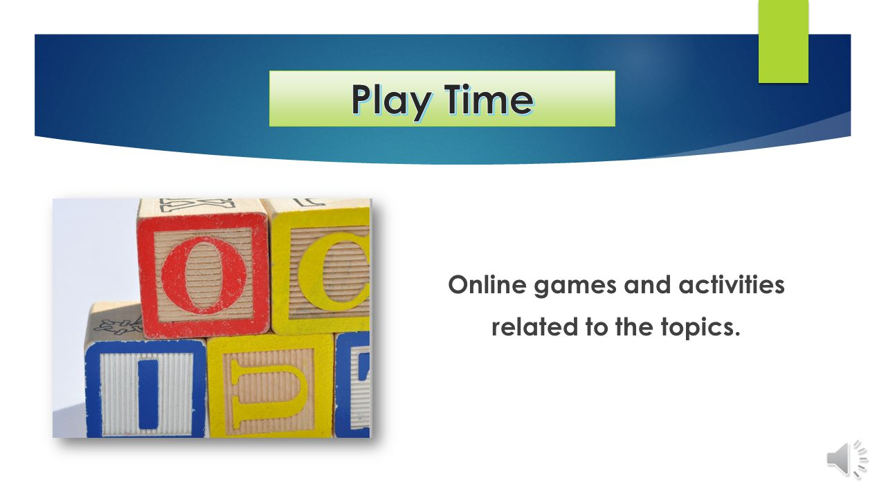 Online games and activities related to the topics.