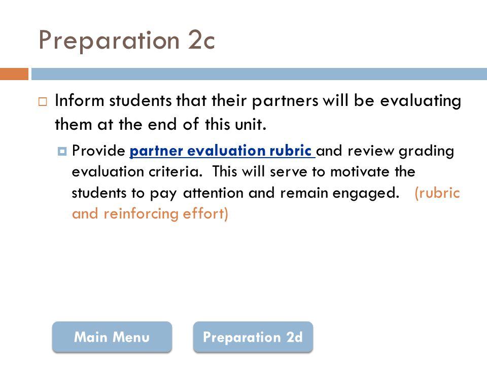 Rubric: Partner Evaluation Return