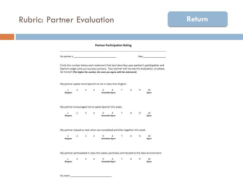 Rubric: Partner Evaluation