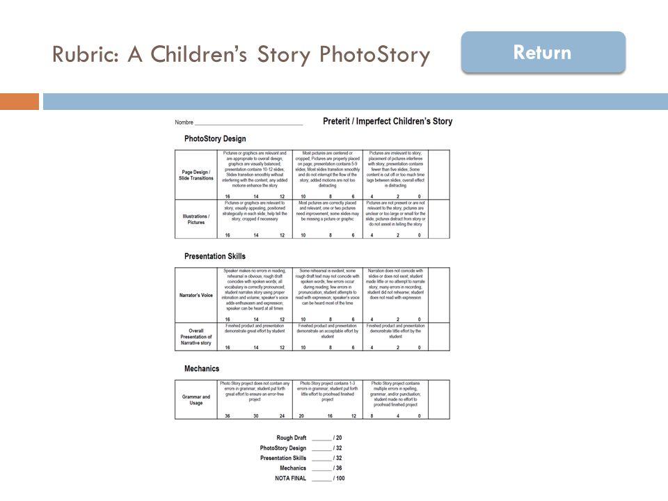 Rubric: A Children's Story PhotoStory Return