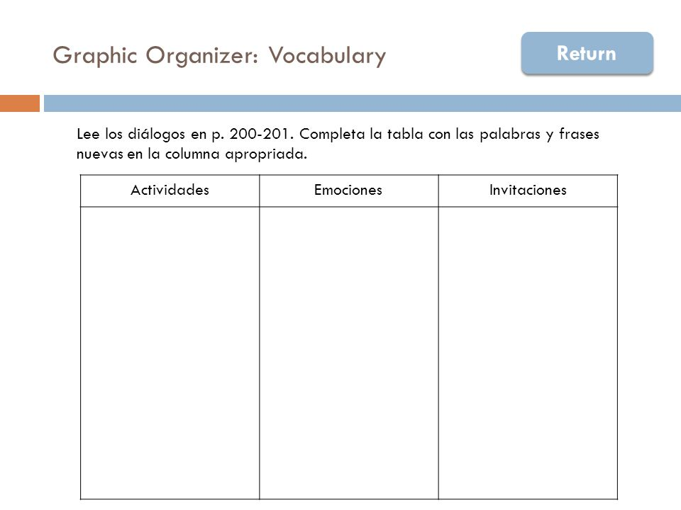 Assistance 1b  Practice new vocabulary with preguntas personales (questions)  In pairs, students interview each other and complete the note-taking guide to document the information collected about their partner.