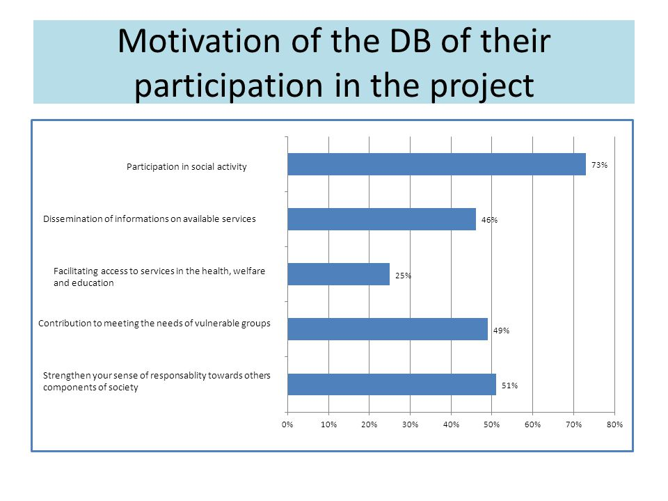 DB opinions in relation to the implementation of a micro-project Man