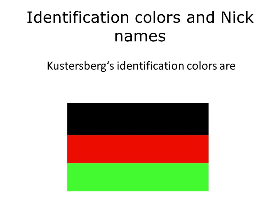 Identification Colors Every fraternity has ones identification colors.