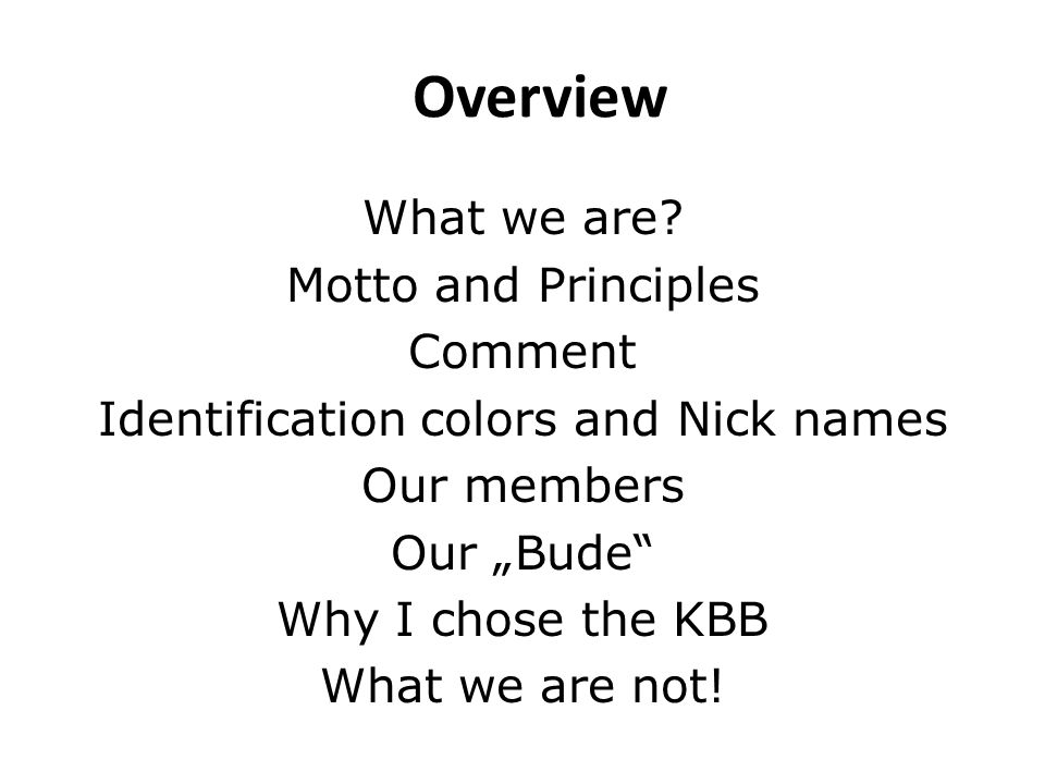 What we are?