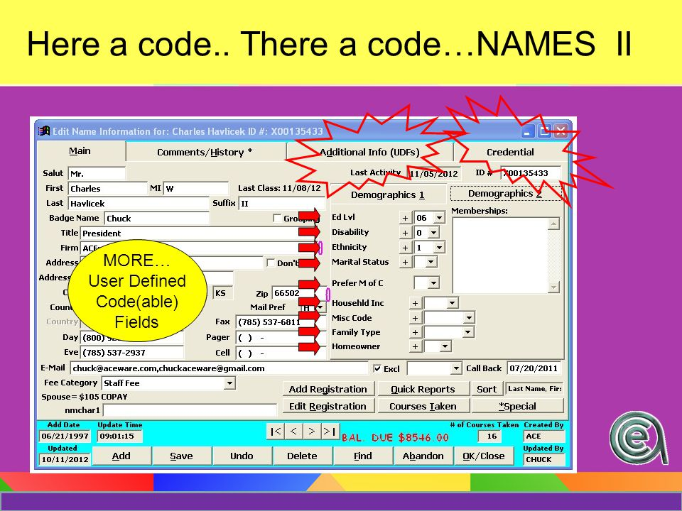 Membership Codes There's a webinar on that… See the webinar archives… Or consult the SM On line help