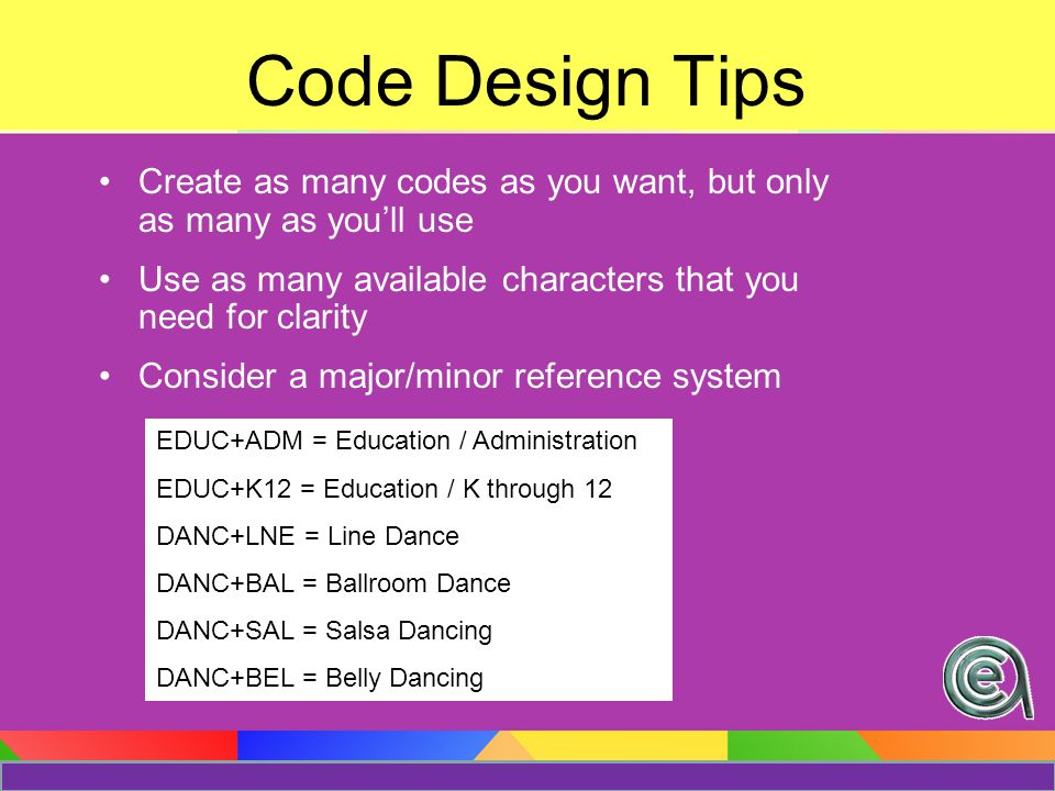 Coding Tip You can view a list of names and courses associated with a particular interest code View all names that have the interest code View all courses that have the interest code