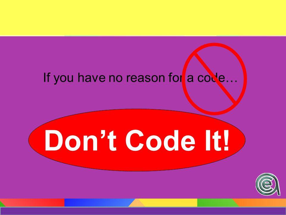 Coding Rules.