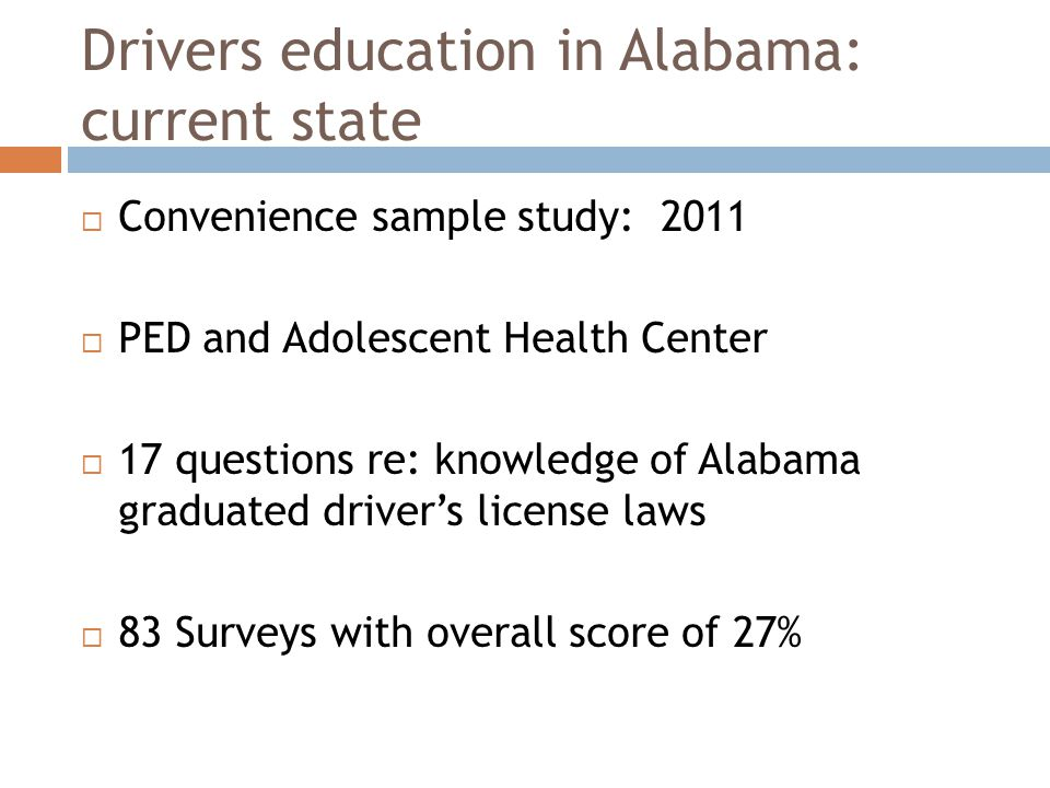Results:  There was no statistical correlation to show that attending driver's education improved your knowledge of the states new GDL law (t=-.43 p=0.67).