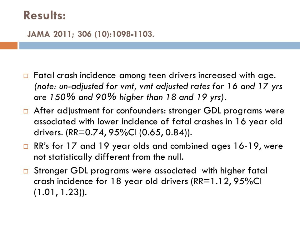 Authors Comments and Conclusions  GDL programs are designed to improve learning among novice drivers and to protect them from their inexperience.