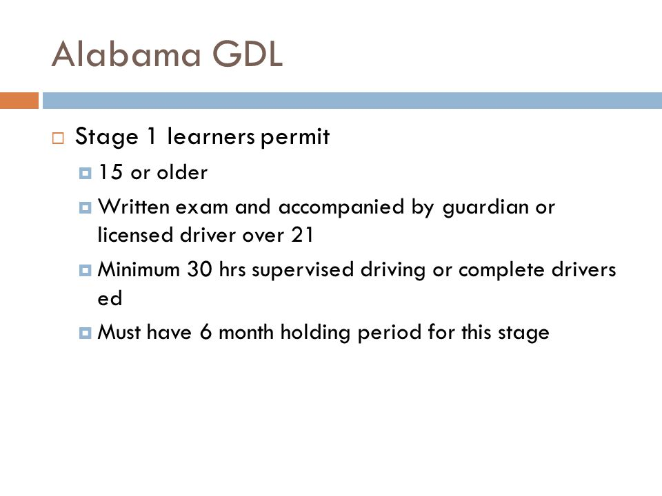 Restricted license  Stage 2  16 or over and guardians permission  Road skills exam  No more than one passenger in vehicle other than parents, or drivers over 21  No handheld communications devices  No driving between midnight and 6 am unless…..