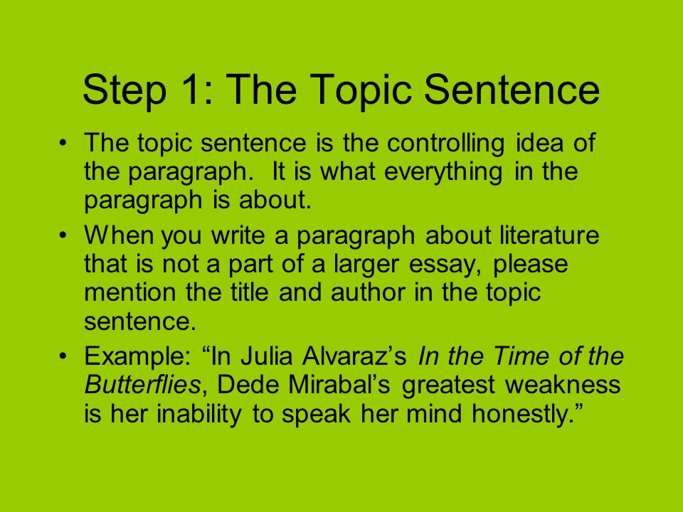 Step 2: Evidence Evidence is simply the textual support that you use to prove your point.