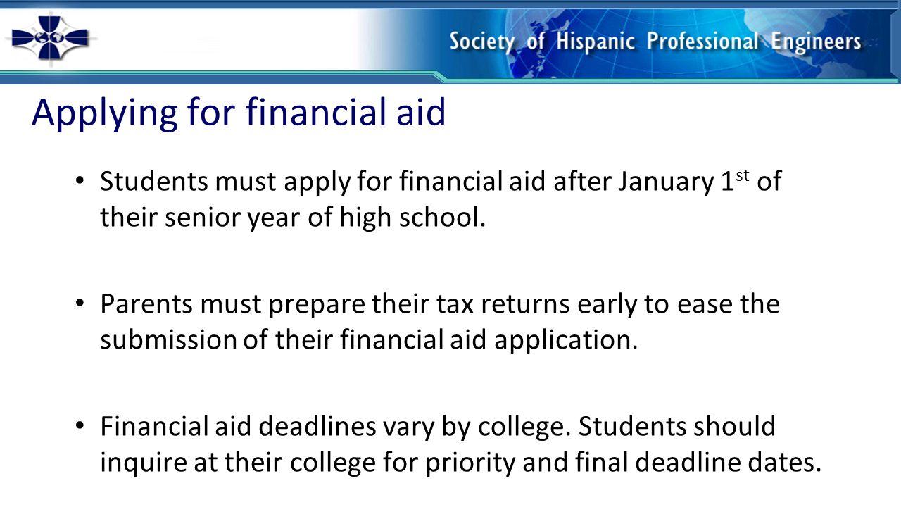 Applying for financial aid U.S.