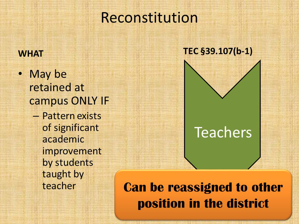 Who makes retention determinations for principals and teachers.
