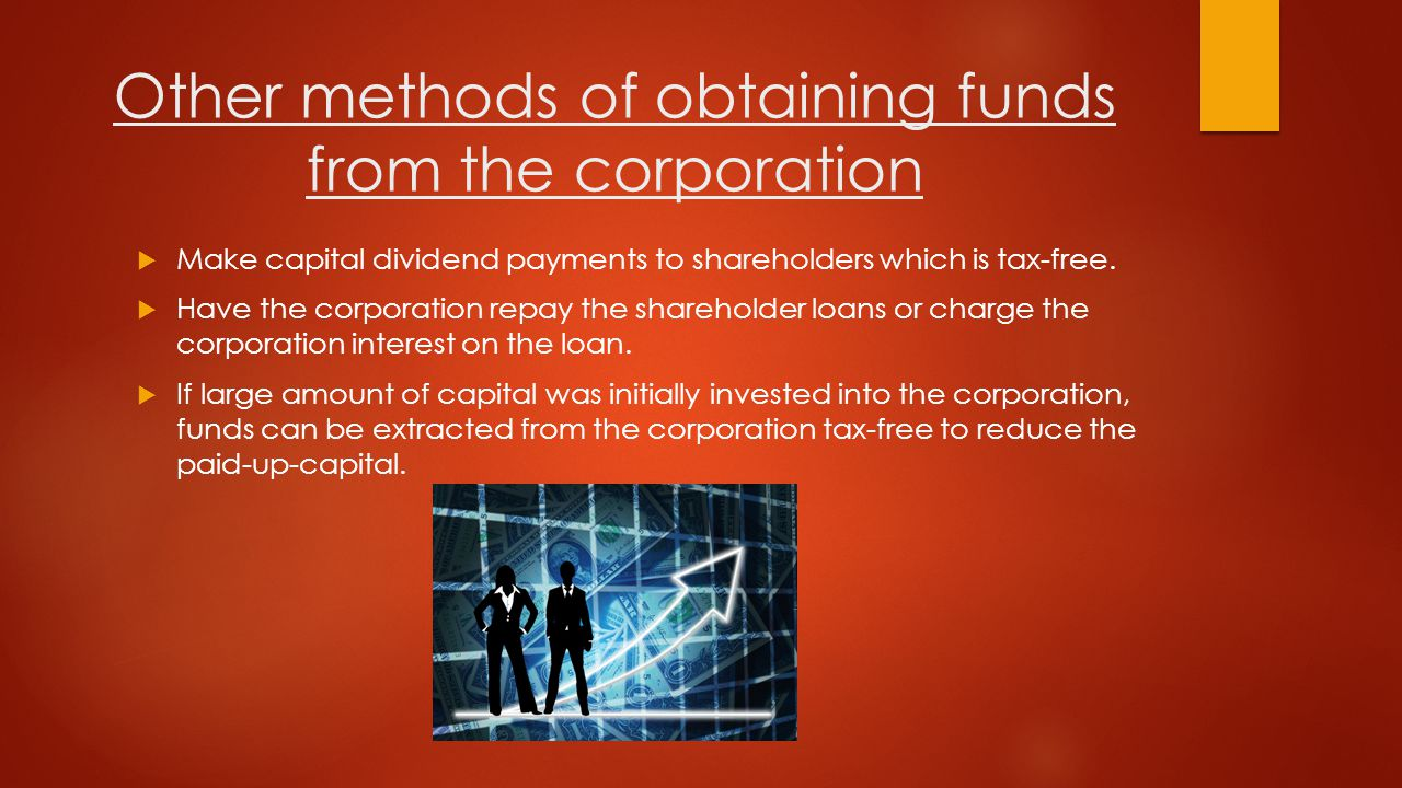 2) Repay Shareholder Loan or Charge Interest as an Expense:  Ensure you repay shareholder loans from the corporation within one year after the year end of the corporation in which the money was borrowed.