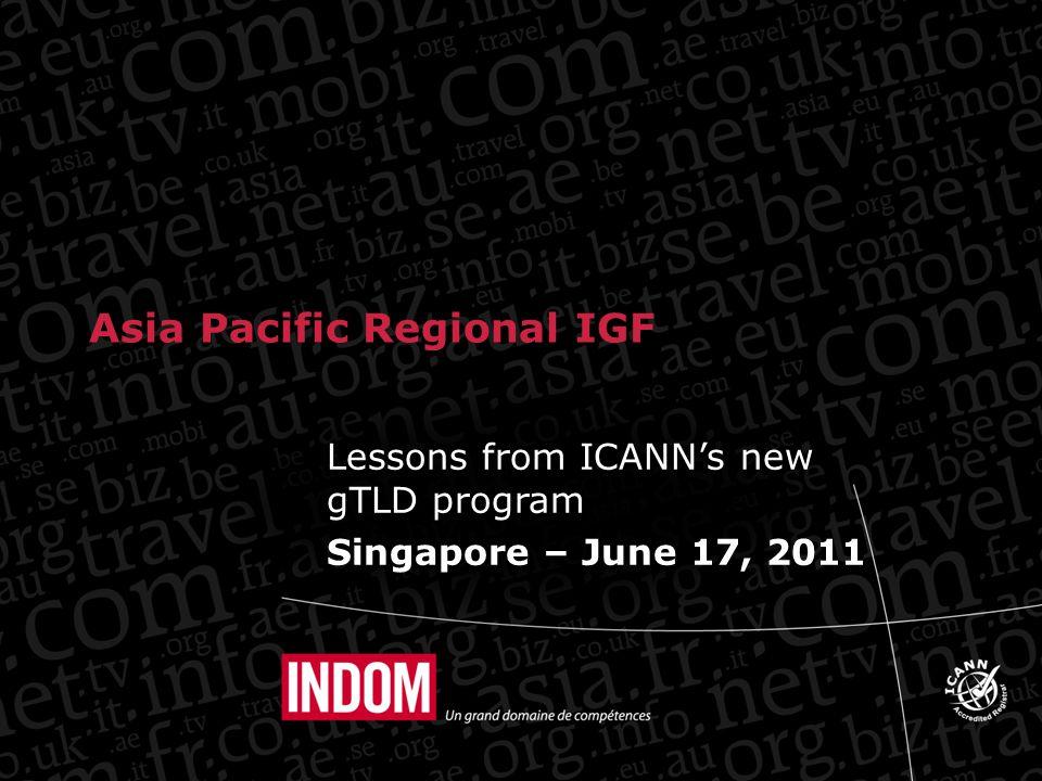 4 yrs NOT long for a program like the new gTLDs.