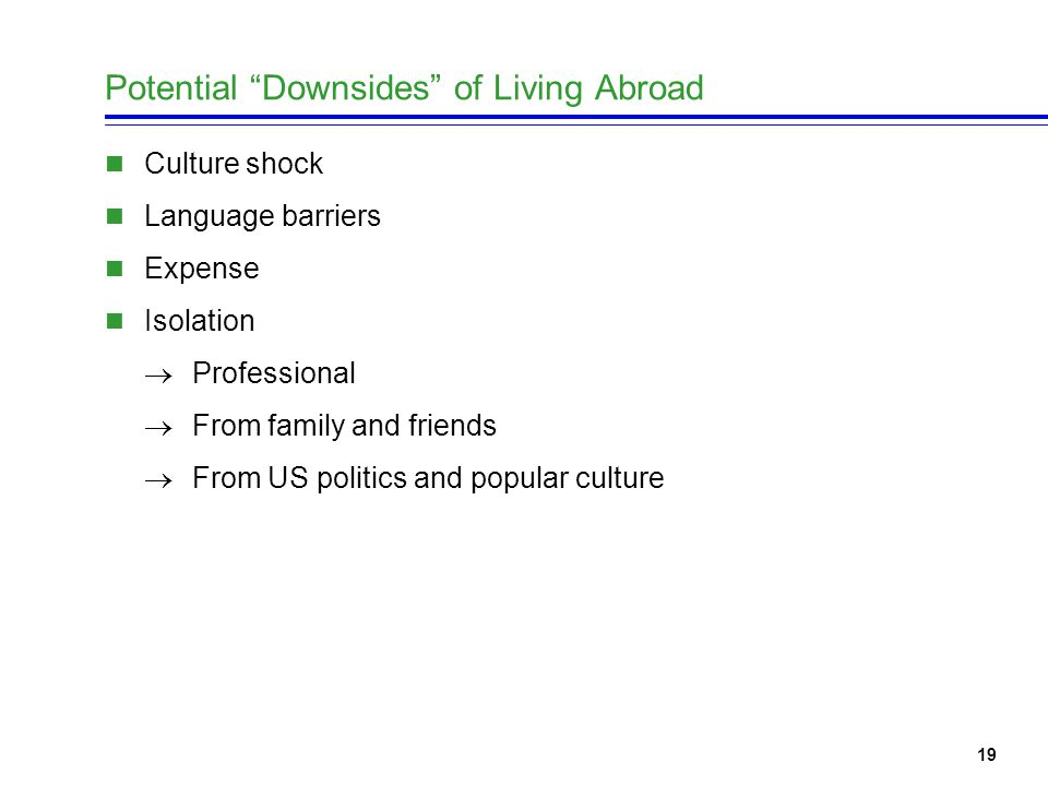 20 Potential Upsides of Living Abroad Travel Vacation Tax savings.