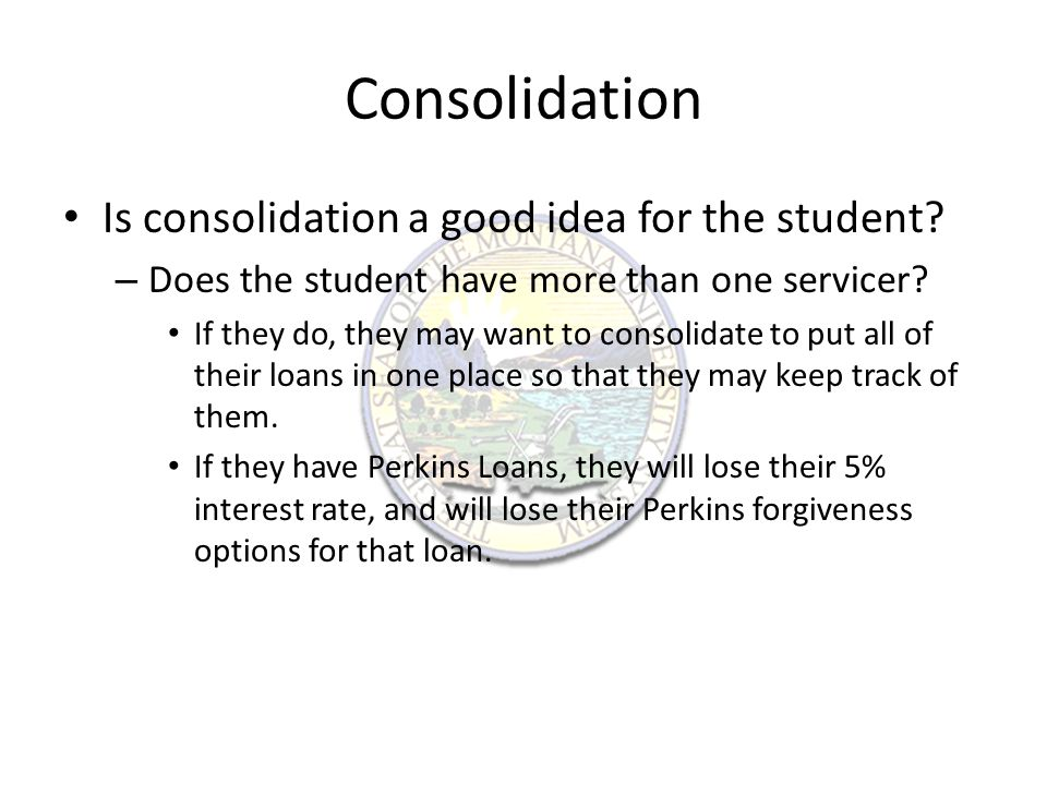 Student Loan Forgiveness Public Service Loan Forgiveness: – Only available for Direct Loans.