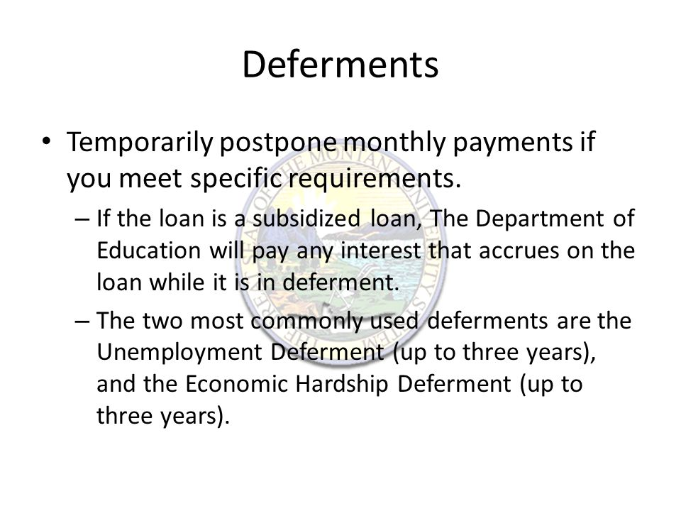 Forbearance Forbearance of student loan payments is not an entitlement.