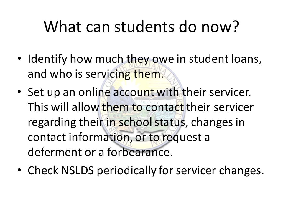 Consider making payments now Payments made while in school on a subsidized loan go directly to the principal due on the loan.