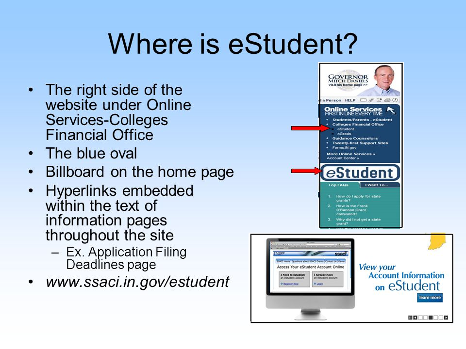 eStudent Landing Page Who is eStudent for.What does it do.