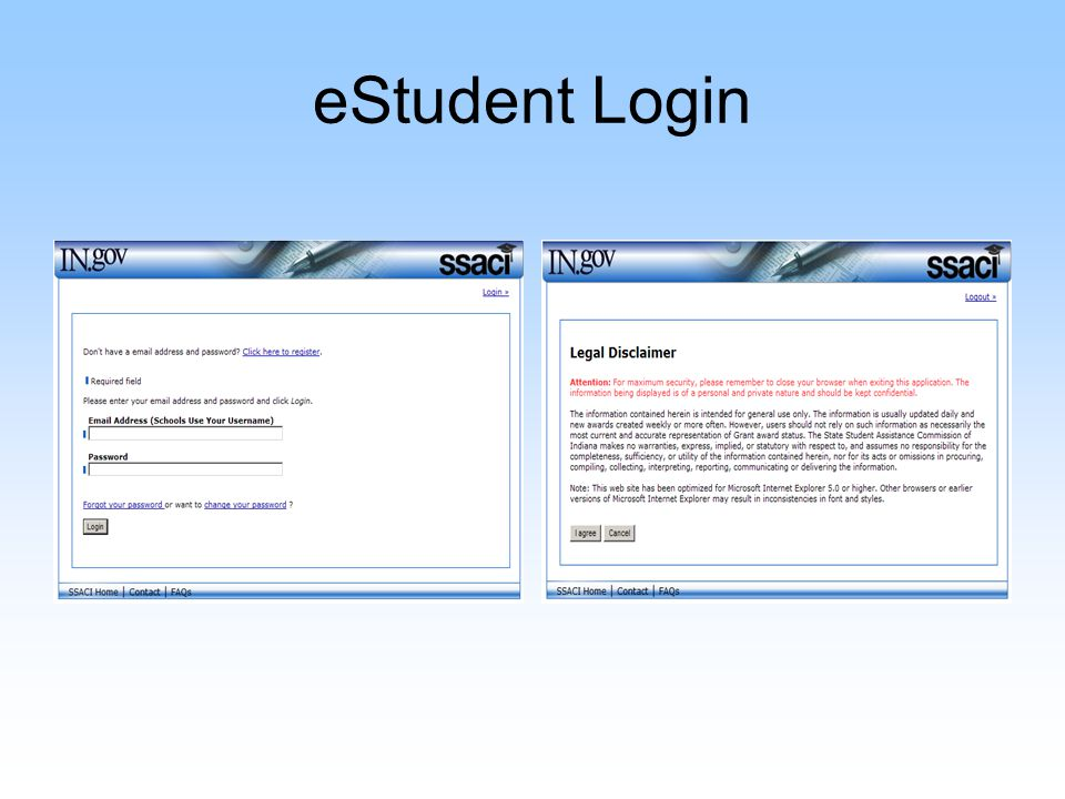 eStudent The red stop sign indicates edits on the student's account Award Notification reflects the award at the student's current college choice –PDF Grant Notification
