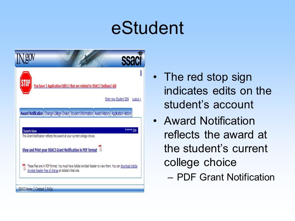 eStudent – Change College Choice Select the correct school year, college choice and semester/term if prompted.