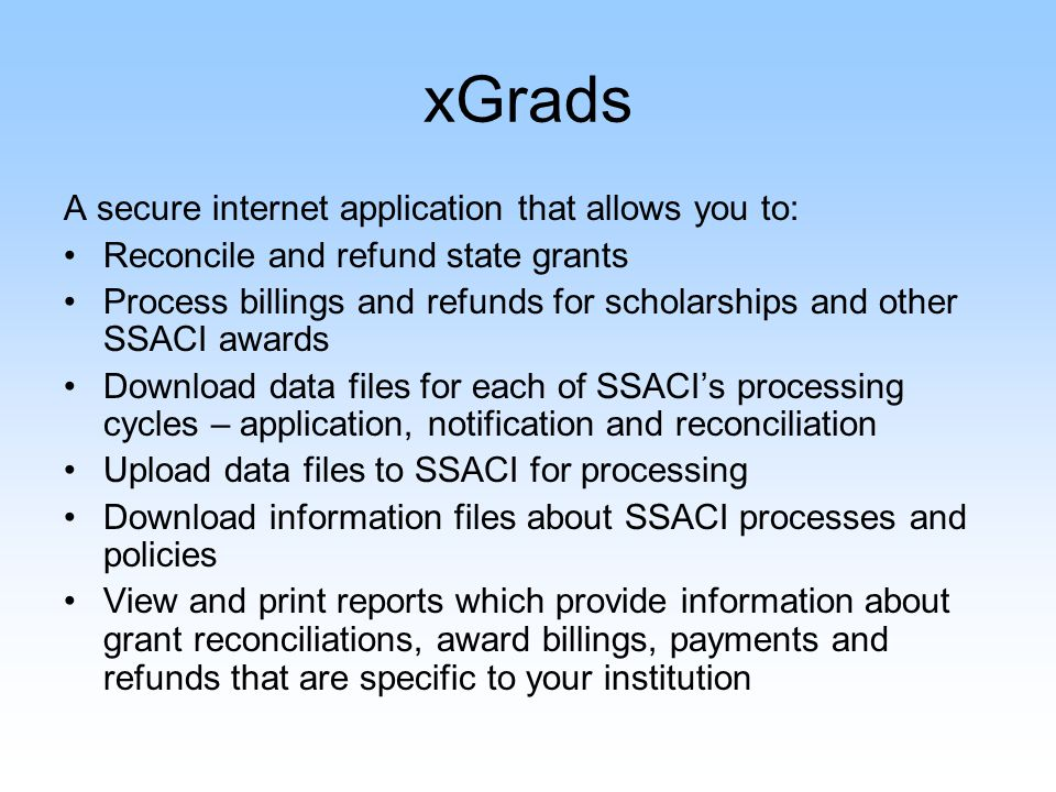 Where is xGrads? The right side of the website under Online Services-Colleges Financial Office