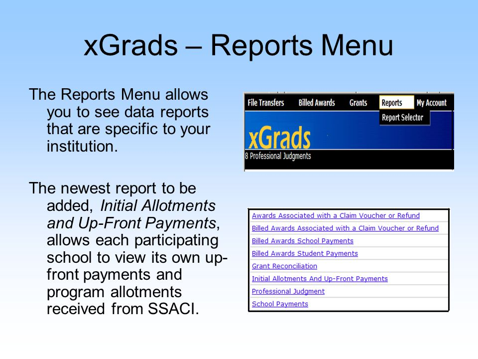 xGrads – My Account My Account allows you to change your password.