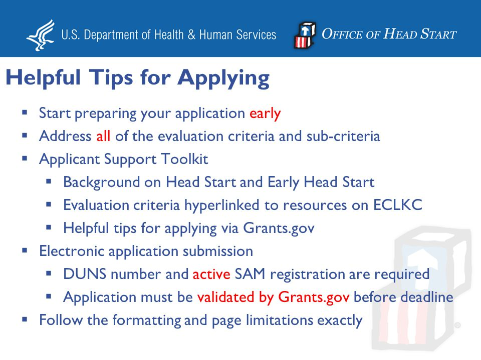 Applications will be screened out and not considered for funding for the following reasons: –If the amount of Federal funding requested for annual base operations and training and technical assistance exceeds the Award Ceiling in the announcement.