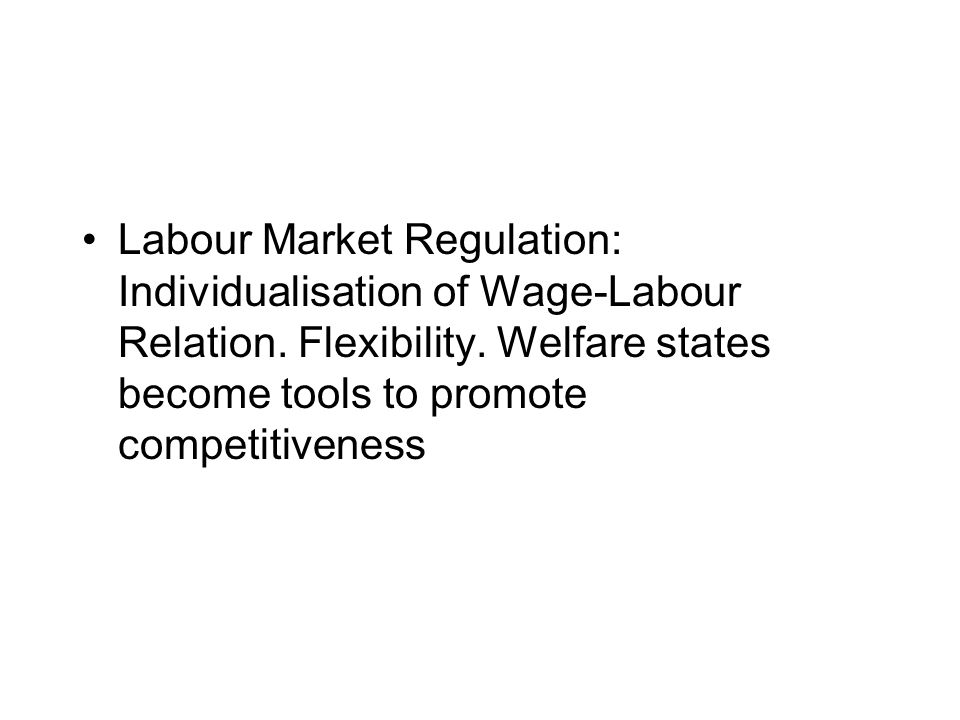Regulatory Reform: Independent regulatory agencies Purpose of reform is correct market failures and enhance competition \ Market based regulation Globally recognized regulatory standards