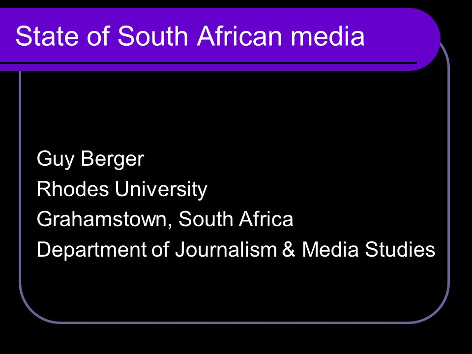 Covering: Post-apartheid political environment.Democratic significance.