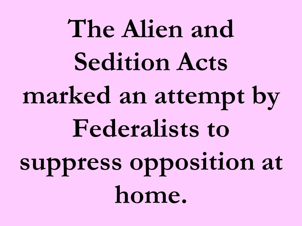 Alien Enemies Act Wartime powers Allowed for the arrest, imprisonment, & deportation of aliens Impacted aliens subject to enemy authority