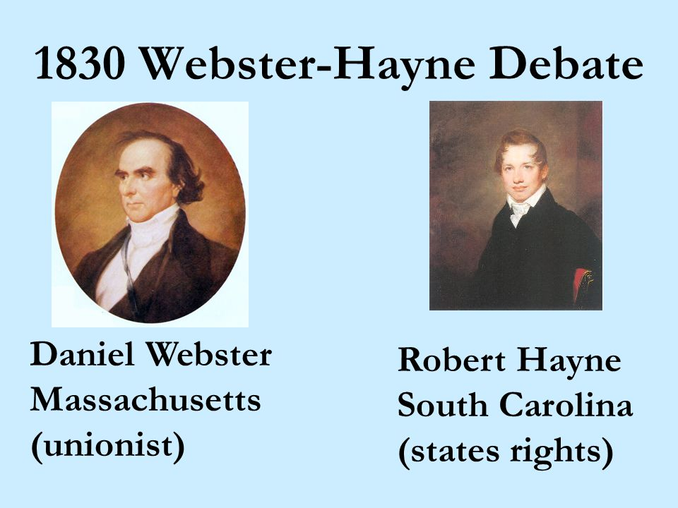 Liberty and Union, now and for ever, one and inseparable! Daniel Webster, 1835