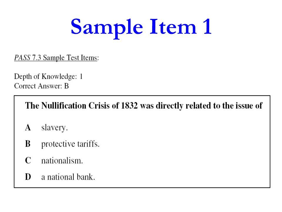 Sample Item 2