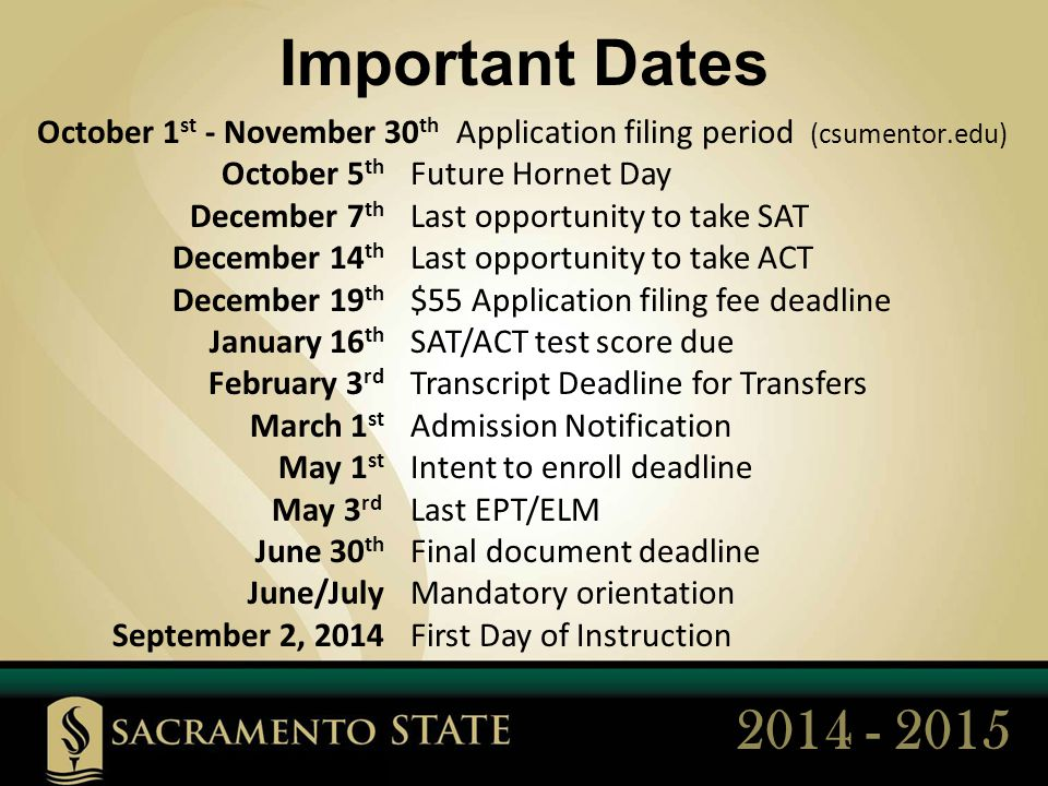Catch The BUZZ What does Sacramento State have to offer.
