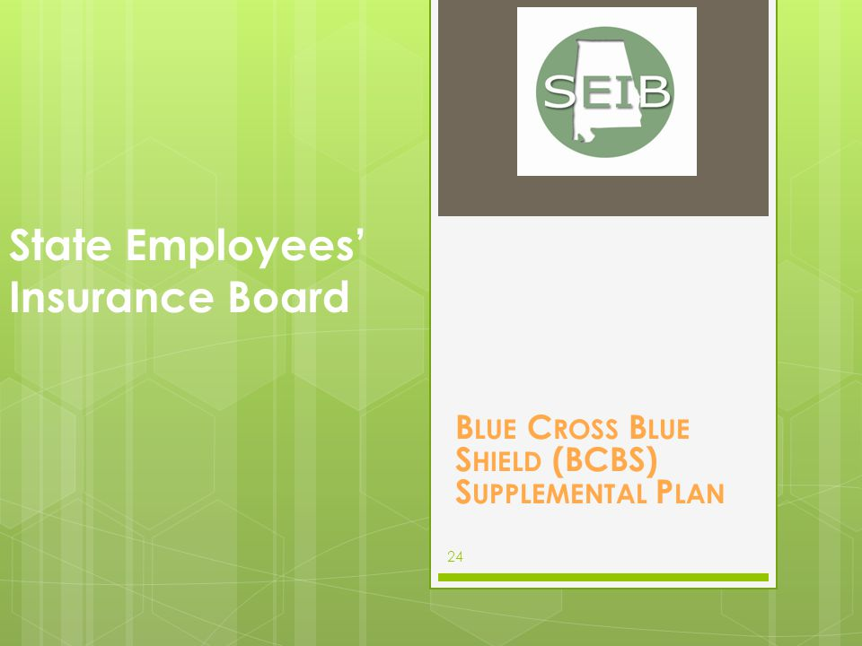 The BCBS Supplemental coverage supplements primary health insurance plans by covering the copay, coinsurance, deductible that the primary insurance plan does not pay at 100%.