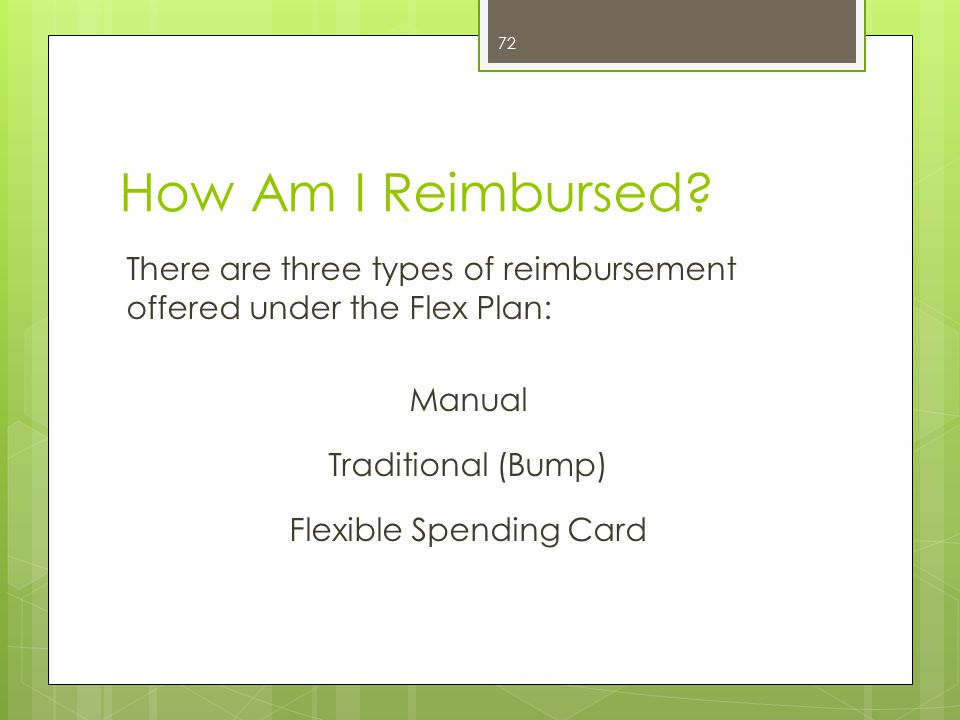 Manual Reimbursement  Visit your physician and pay your copay of $35  Complete and HCRA reimbursement form, available at www.alseib.org, and forward to BCBS along with receipt/documentation from doctor visit;www.alseib.org  BCBS will reimburse the member $35 by either mailing a check directly to the member, or if enrolled, the reimbursement can be direct deposited into a checking/savings account.