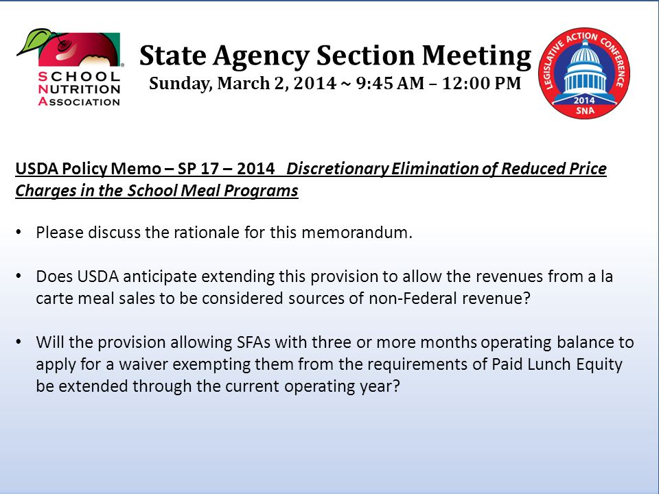 State Agency Section Meeting Sunday, March 2, 2014 ~ 9:45 AM – 12:00 PM Proposed Rule – Professional Standards Other than providing continuing education and training programs that meet the annual requirements for achieving the professional standards, what oversight and monitoring requirements are expected of State Agencies?