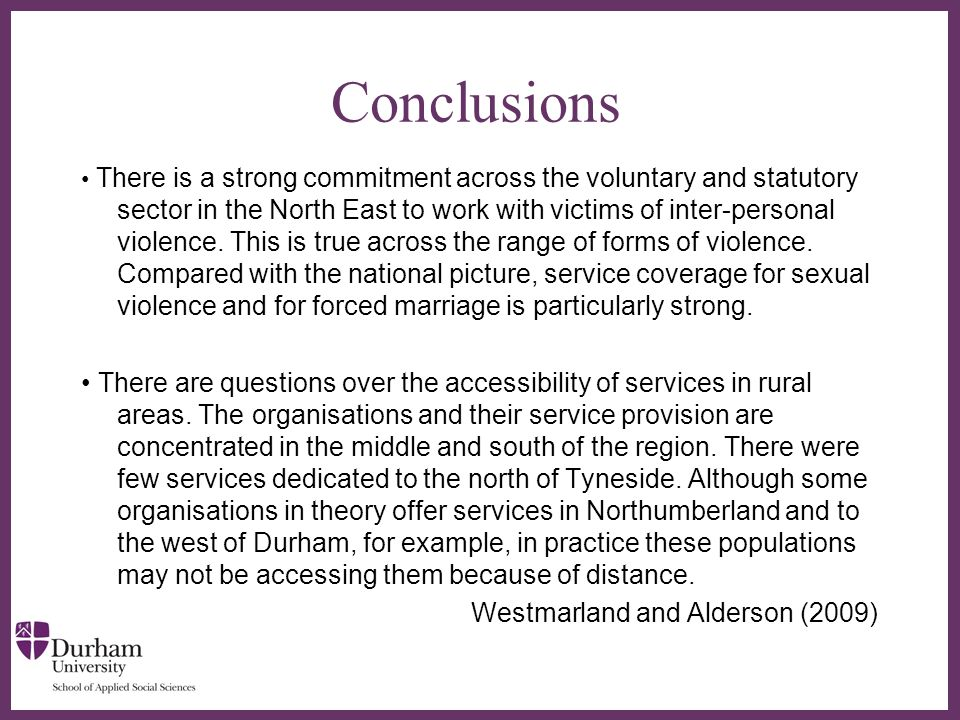∂ Recommendations Recommendation 1: A needs assessment of service provision in rural areas should be conducted.
