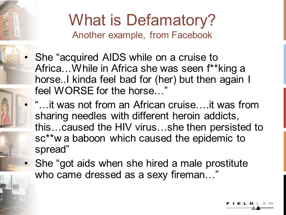 What is Defamatory.