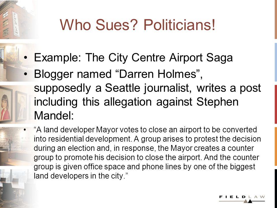 Who Sues.Politicians.