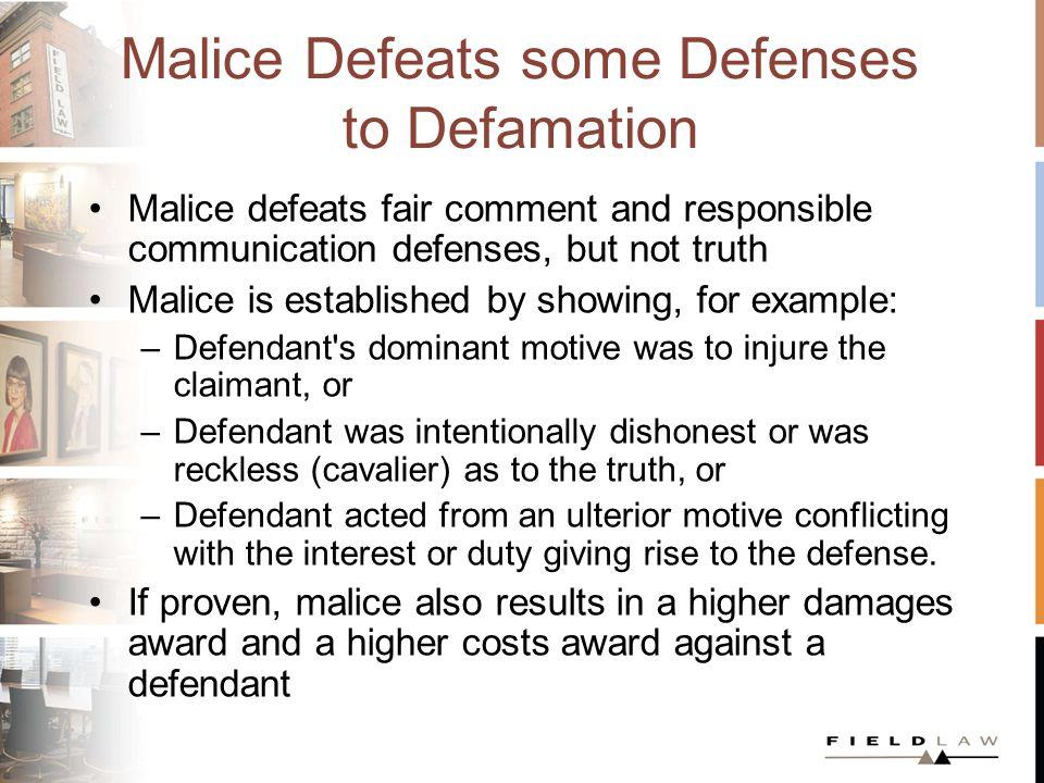 Malice in Practice Astley v.