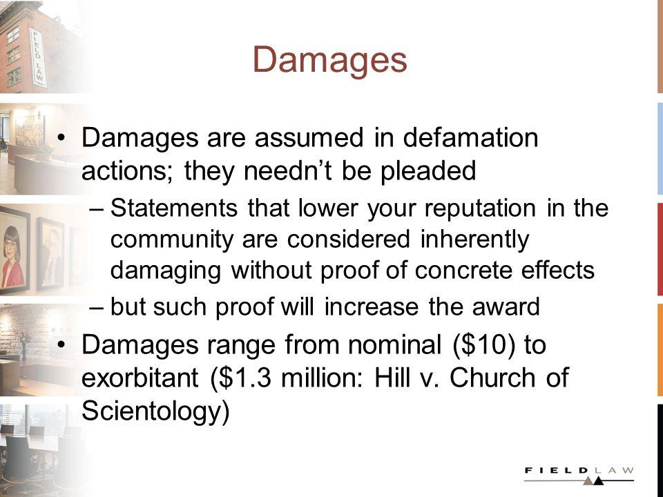 Unpredictable Awards In one 2006 Alberta case, Angel v.